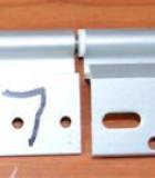598 - Deurscharnier LINKS aluminium Ellbee