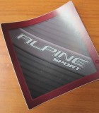 Sticker Alpina voor een Sprite voorfront